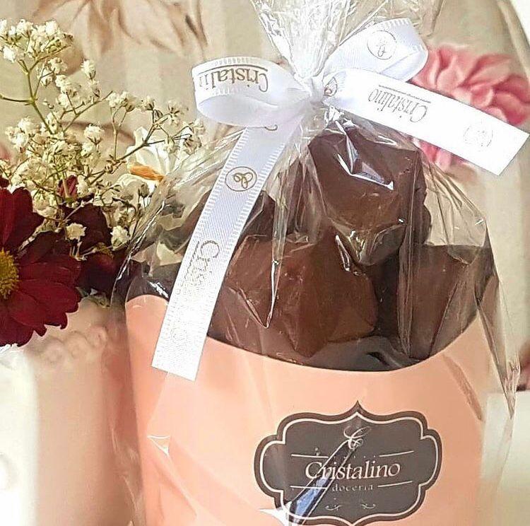 Mini pão de mel coberto com chocolate- Doceria Cristalino - 180 g