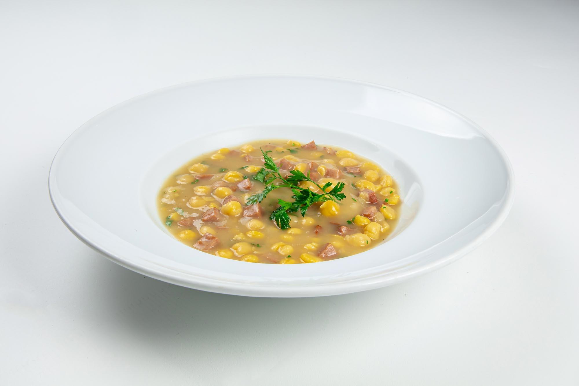 Sopa de grão de bico com linguiça paio (350gr)