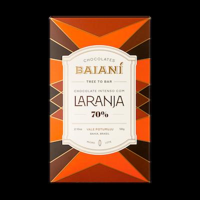 Barra de Chocolate Baianí 70% com Raspas de Laranja