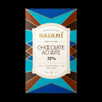 Barra de Chocolate Baianí 57% ao Leite