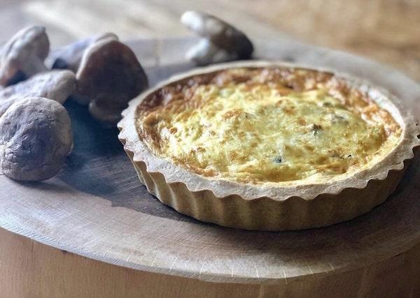 Quiche de shitake - Quiche individual de queijo Cia dos Sabores- 120 g