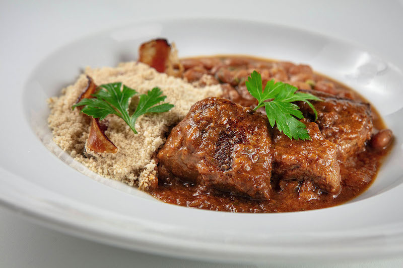 Carne de Panela com arroz, feijão e farofa de bacon (430gr)