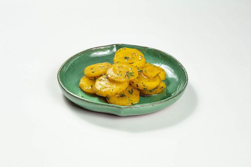 Mandioquinha assada com azeite de ervas frescas (100gr)